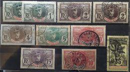 HAUT SÉNÉGAL ET NIGER  1906, Type Faidherbe Palmier,  10 Timbres Neufs * Avec Nuances  Obl Petits Bureaux TB - Usados