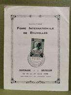 18e Foire Internationale De Bruxelles 1938 Avec Timbre 10c + 5c - Cartes Souvenir