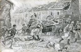 Guerre 14 18 BETHUNE DANS LE NORD L'INFANTERIE COLONIALE VIENT AIDER LES ANGLAIS A SAUVER UNE PIECE - Bethune