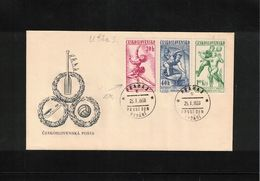 Czechoslovakia 1958 World Football Cup Stockholm FDC - 1958 – Zweden