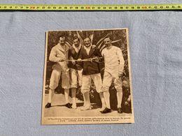 1936 M EQUIPE DE FLEURETTISTES LEMOINE ANDRE EDWARD GARDERE JACQUE COUTROT - Collezioni
