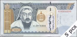 TWN - MONGOLIA 67d - 1000 1.000 Tögrög 2013 DEALERS LOT X 5 - Prefix AS UNC - Mongolei