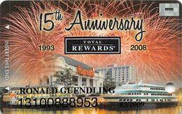 Harrah's Casino - 15th Anniv Harrah's Joliet Platinum Slot Card - Casino Cards