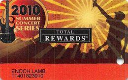 Harrah's Casino Summer Concert Series 2010 BLANK Slot Card - Casino Cards