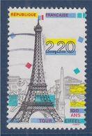 Panorama De Paris Monuments De La Capitale N°2580 Oblitéré Centenaire De La Tour Eiffel - Gebraucht