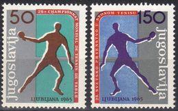 Yugoslavia 1965 World Champioship Table Tennis Ljubljana Slovenia, Set MNH - Ungebraucht