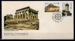 1978 Greece Europa CEPT FDC Architectural Monuments MiNr. 1314 - 1315 Thessaloniki Dom Hagia Sophia Church Lysikrates - Brieven En Documenten