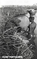 Guiné Portuguesa Ethnique Ethnic Nú Nude Naked Pescadora Papel Biombo Unused Non Voyagé - África