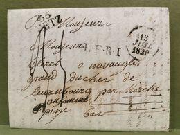 Lettre Oblitéré Metz 1829 Envoyé à Grand Duché De Luxembourg - Marcophilie (Lettres)