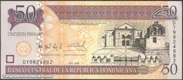 TWN - DOMINICAN REPUBLIC 176b - 50 Pesos Oro 2008 Prefix DY - Signatures: Albizu & Bengoa UNC - Dominicaine