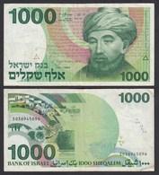 Israel 1000 Sheqalim Banknote 1983 Pick 49 F (4)   (26560 - Bankbiljetten