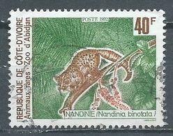 Cote D'Ivoire YT N°891 Nandinie Nandinia Binotata Oblitéré ° - Ivoorkust (1960-...)