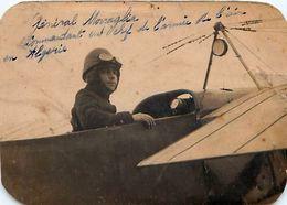 Cpa Carte Photo 1913 LESCAR 64 - Général MORRAGLIA Commandant En Chef De L'  Armée De L' Air En Algérie - Voir état - Personnages