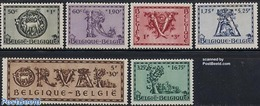Belgium 1943 Orval 6v, (Mint NH), Nature - Birds - Fish - Deer - Belgique