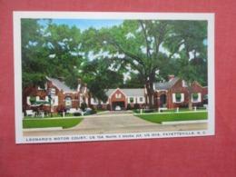 Leonard's Motor Court  Fayetteville North Carolina >  Ref 4157 - Fayetteville
