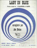 """""""Lady In Blue"""" Paroles Et Musique P.Yellowstone Et R. Danova - Enregistré Par Joé Dolan - Musik & Instrumente"""