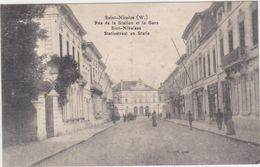 Sint-Niklaas - Statiestraat En Statie (gelopen Kaart Zonder Zegel Feldpost) - Sint-Niklaas