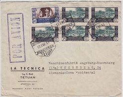 Maruecos North Afrika FLP-Brief 1951 Mit Schöner Frankatur Nach Nürnberg - Sahara Espagnol