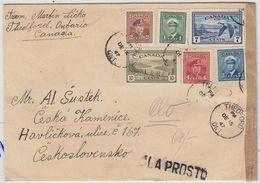 Kanada 1947 Brief Mit MIF+Zensur In Die CSSR - Lettres & Documents
