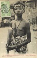 Afrique Occidentale (Senegal)) DAKAR  Jeune Fille Bambara Petits Seins Nus + Beau Timbre 5 Senegal - Sénégal