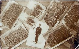 Cpa Carte Photo LA ROCHELLE 17 Colonel Thomas De La PINTIERE Et Multivues Du 123e Régiment D' Infanterie - La Rochelle