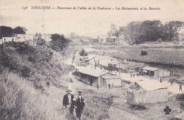 AVIT18-  TOULOUSE  EN HAUTE GARONNE PANORAMA DE L'ALLEE DE LA POUDRERIE  LES RESTAURANTS ET LES BUVETTES  CPA  CIRCULEE - Toulouse