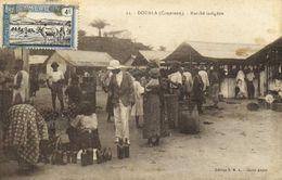 DOUALA  (Cameroun) Marché Indigène + Beau Timbre 4c Cameroun RV - Cameroun