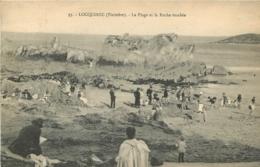 LOCQUIREC LA PLAGE ET LA ROCHE TOMBEE - Locquirec