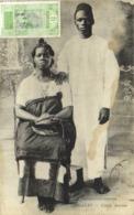 CONAKRY  Couple Soussou + Beau Timbre 5 C Guinée  RV - Guinée Française