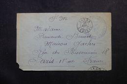SÉNÉGAL - Enveloppe En FM De Dakar Pour Paris, Oblitération De Dakar échoppé ( Sans Dateur ) - L 63154 - Sénégal (1887-1944)