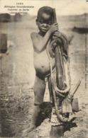 Afrique Occidentale  Guerrier En Herbe ( Jeune Cérère) Fortier  RV - Sénégal