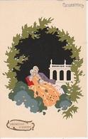 """20 /6  / 175    -  ROMESSE. D'AMOR. """"  CPA. COUPLE  SIGNÉ  G  MESCHINI  - PEINT À LA MAIN - Autres Illustrateurs"""