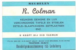 Visitekaartje - Carte Visite - Meubelen Keukens R. Colman - Ledeberg - Cartoncini Da Visita