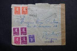 ROUMANIE - Enveloppe De Bucarest Pour La France En 1944 Avec Contrôle Postal, Affranchissement Plaisant - L 63160 - 2. Weltkrieg (Briefe)