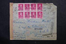 ROUMANIE - Enveloppe De Rebricea Pour La France En 1942 Avec Contrôle Postal, Affranchissement Plaisant - L 63161 - 2. Weltkrieg (Briefe)