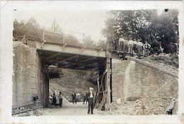 Cpa Carte Photo Construction Ou Travaux Pont De Chemin De Fer - ,non Localisée - Kunstwerken