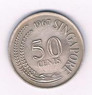 50 CENTS 1967 SINGAPORE /4676/ - Singapour