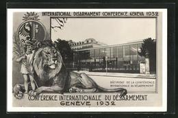 AK Geneve, Conférence Internationale Du Désarmement 1923, Batiment De La Conférence - GE Geneva