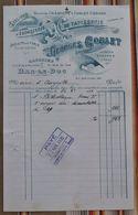 55 BAR LE DUC Ebenisterie Tapisserie G. GOBLET Pour Auzeville Tampon Perception Clermont Varennes En Argonne - France