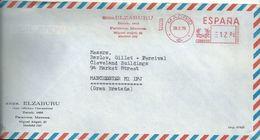 Ema Pitney Bowes : Rue Michel Ange - Lettre De Madrid Pour La Grande Bretagne - Machine Stamps (ATM)