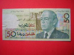 1 BILLET  MAROC    BANK AL MAGHRIB  50 DIRHAMS  1987 - Marocco
