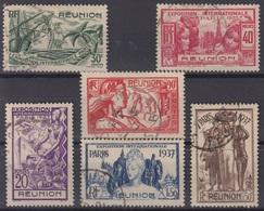 REUNION : SERIE EXPOSITION 1937 N° 149/154 OBLITERATIONS DISCRETES - Réunion (1852-1975)