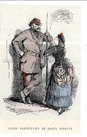 GF1156 - CARICATURE DE CHARLES-ALBERT BERTALL - TYPES DE LA COMMUNE DE PARIS 1870 - GARDE DE RAOUL RIGAULT - Historische Dokumente