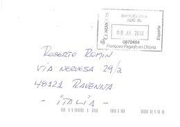 LETTERA X ITALY BARCELONA SUC.38 - 2011-... Lettres
