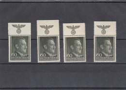 GG Generalgouvernement MiNr. 111, **, 4x HHZ, Versch. Farben Und Abstände - Besetzungen 1938-45