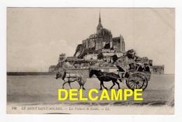 DF / TRANSPORTS  HIPPOMOBILE / LES VOITURES DE GENÊTS , TRANSPORT DE TOURISTES AUTOUR DU MONT SAINT-MICHEL / 1915 - Cartes Postales