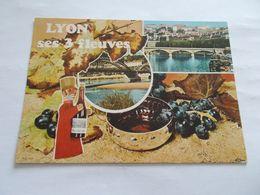 LYON ( 69 Rhone ) SES TROIS FLEUVES  BEAUJOLAIS MARIONNETTE  VOYAGEE 1987 - Lyon