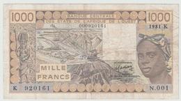 1.000 FRANCS 1981 - Sénégal