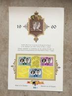 """1169/71 Série Complète Baudouin Et Fabiola : Cachet """"Mariage Royal"""" Sur CM 13-12-1960 - Maximum Cards"""