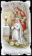 Image Pieuse Holy Card Heilig Prentje Communion Alphonsine Malonne Sombreffe 1908 Ange Angel - Devotieprenten